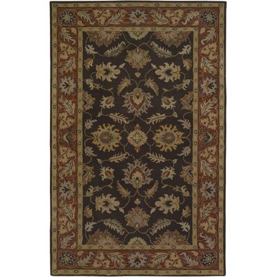 Keefer Chocolate/Tan Area Rug Rug Size: Oval 6 x 9
