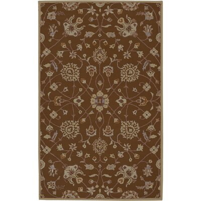 Keefer Coffee Bean Floral Area Rug Rug Size: Slice 2 x 4
