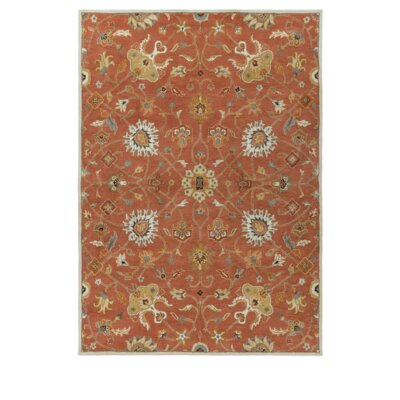 Topaz Butter Peanut Floral Area Rug Rug Size: Rectangle 6 x 9