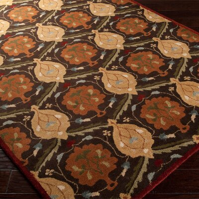 Topaz Espresso Floral Area Rug Rug Size: Rectangle 2 x 3