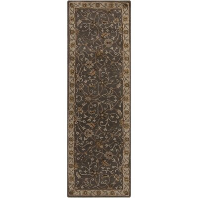 Keefer Dark Khaki Floral Area Rug Rug Size: Rectangle 9 x 12
