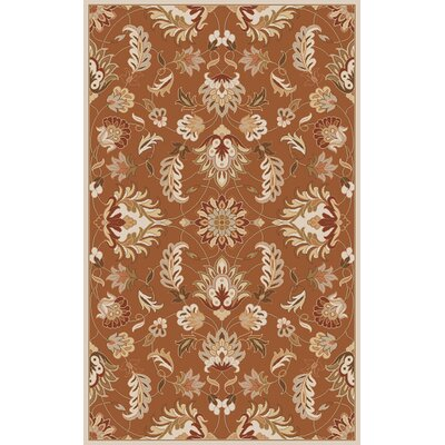 Topaz Butter Peanut Floral Area Rug Rug Size: Oval 8 x 10