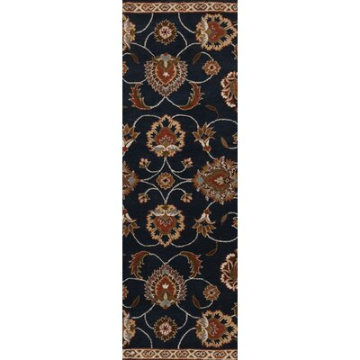 Keefer Dark Olive Green Floral Area Rug Rug Size: Slice 2 x 4