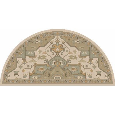 Topaz Moss/Beige Area Rug Rug Size: Square 8
