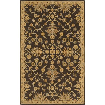 Casselman Black/Gold Area Rug Rug Size: Rectangle 5 x 8