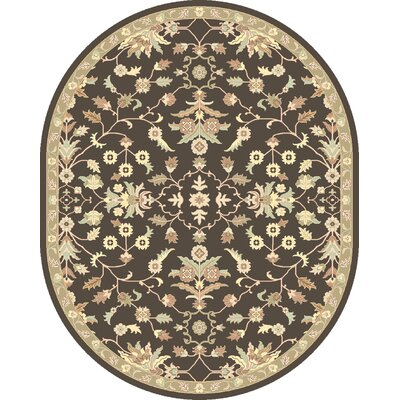 Topaz Chocolate/Beige Area Rug Rug Size: Square 8