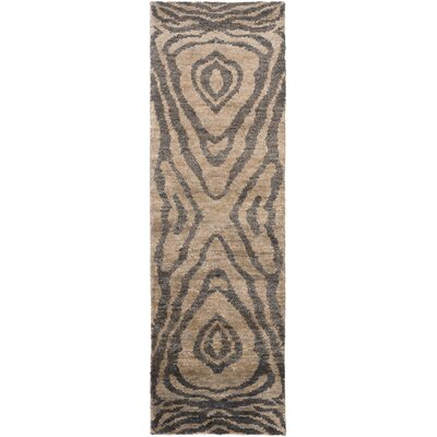Alexa Charcoal/Taupe Area Rug Rug Size: Rectangle 8 x 11