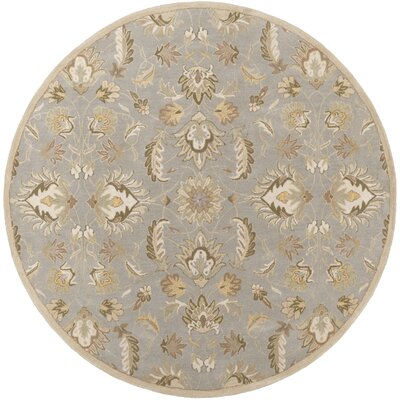 Topaz Hand-Tufte Olive/Taupe Area Rug Rug Size: Rectangle 4 x 6