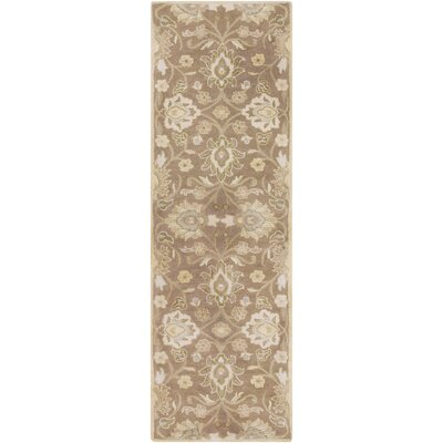 Topaz Hand-Tufted Camel Area Rug Rug size: Round 6