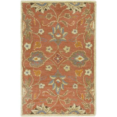 Topaz Hand-Tufted Burnt Orange Area Rug Rug size: 10 x 14
