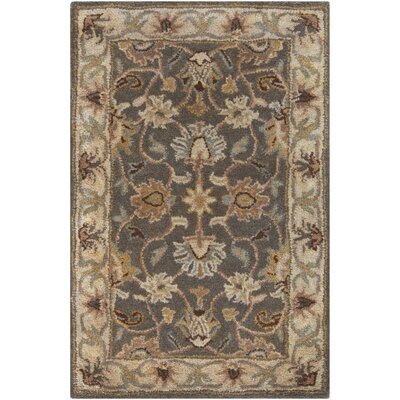Topaz Hand-Tufted Charcoal Area Rug Rug Size: Round 8
