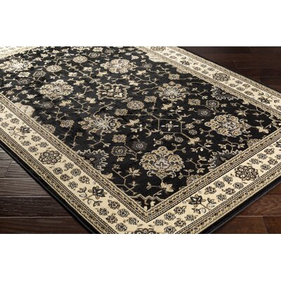 Market Black Area Rug Rug size: Rectangle 67 x 96