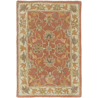Arden Burnt Orange Tufted Wool Area Rug Rug Size: Rectangle 10 x 14