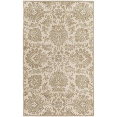 Topaz Hand-Tufted Taupe Area Rug Rug size: Rectangle 4 x 6
