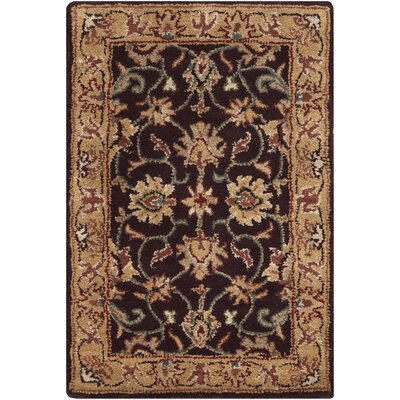 Topaz Hand-Tufted Burgundy Area Rug Rug size: Square 8