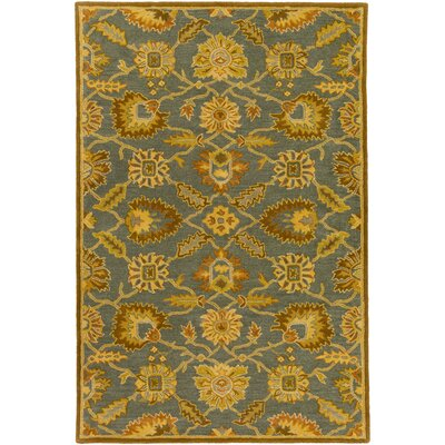Keefer Hand-Tufted Wool Tan Area Rug Rug size: Oval 8 x 10