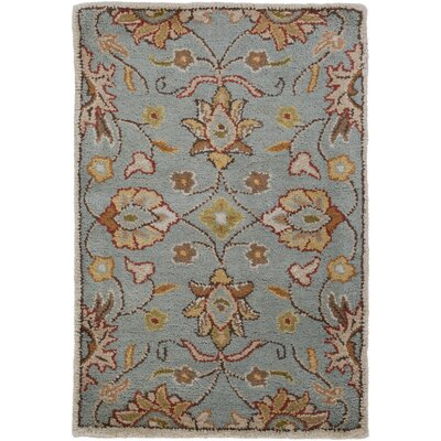 Topaz Hand-Tufted Medium Gray Area Rug Rug Size: Round 6