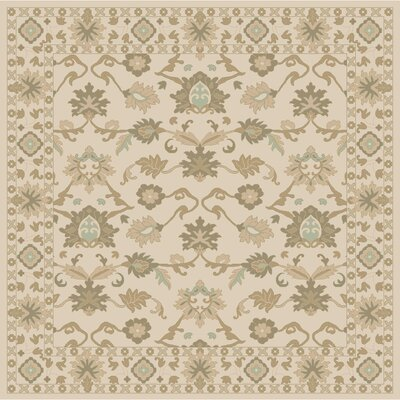 Topaz Hand-Tufted Khaki Area Rug Rug size: Rectangle 76 x 96