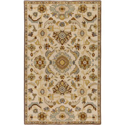 Topaz Hand-Tufted Beige Area Rug Rug size: 76 x 96