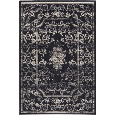 Cassell Blue/Neutral Area Rug Rug Size: 51 x 76
