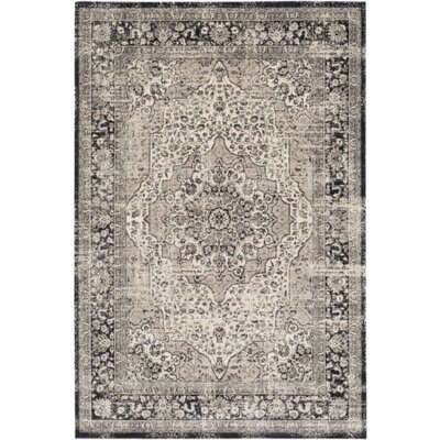 Ceres Gray/Blue Area Rug Rug Size: 51 x 76