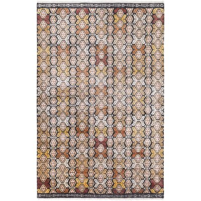 Seline Hand-Knotted Wool Neutral/Brown Area Rug Rug Size: Rectangle 4 x 6