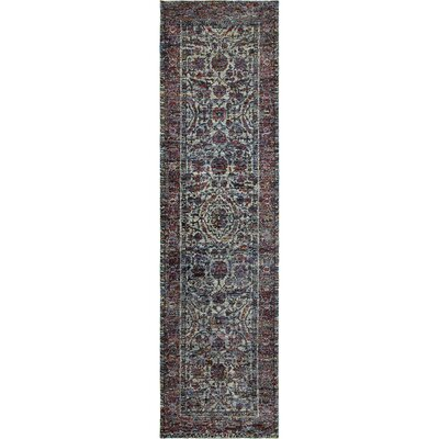 Rosalia Overdyed Blue/Purple Area Rug Rug Size: Runner 22 x 83