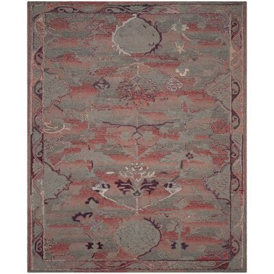 Harrelson Hand-Tufted Red Area Rug Rug Size: 5 x 8