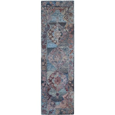 Emily Hand-Tufted Blue Area Rug Rug Size: Runner 23 x 8
