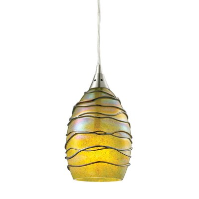Angelika 1-Light Glass Shade Mini Pendant Shade Color: Rhubarb