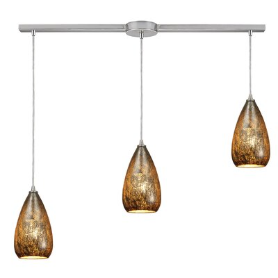 Palecek 3-Light Kitchen Island Pendant