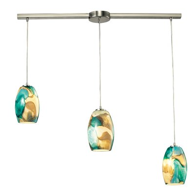 Adalheid 3-Light Kitchen Island Pendant