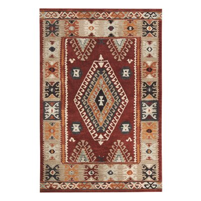 Alma Hand-Woven Red Area Rug Rug Size: 8 x 106