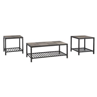 Frederiksberg 3 Piece Coffee Table Set