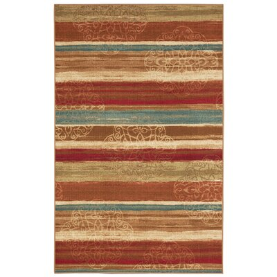 Castellano Red/Beige Area Rug Rug Size: 5 x 7