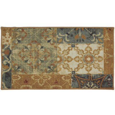 Castellano Wool Brown/Blue Area Rug Rug Size: Runner 18 x 5