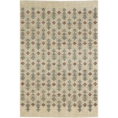 Delora Machine Woven Beige Area Rug Rug Size: Rectangle 53 x 710