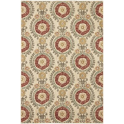 Delora Machine Woven Wool Beige Area Rug Rug Size: Rectangle 53 x 710