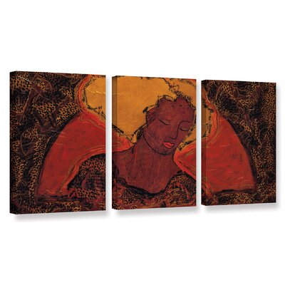 "Leopard Sister 3 Piece Painting Print on Wrapped Canvas Set Size: 18"" H x 36"" W x 2"" D WDMG7500 33506056"