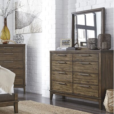 Varian 8 Drawer Dresser with Mirror