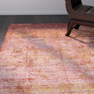 Brown/Orange/Pink Area Rug Rug Size: 5 x 8