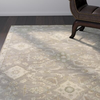 Rania Hand-Tufted Taupe Area Rug Rug Size: 3'3