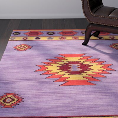 Doetinchem Hand-Tufted Purple Area Rug Rug Size: 86 x 116