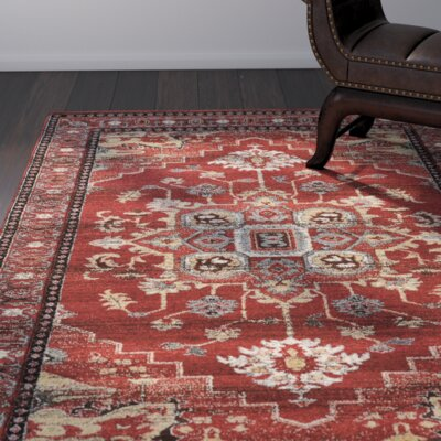 Shelie Mahal Red/Beige Area Rug Rug Size: Rectangle 8 x 106