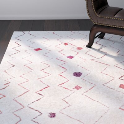 Aldham Hand-Tufted Light Beige Area Rug Rug Size: Rectangle 7'6