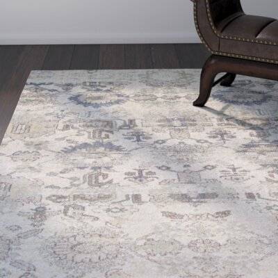 Latta Ivory Area Rug Rug Size: Rectangle 53 x 78