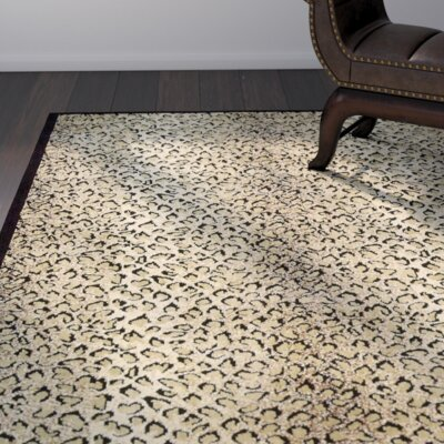 Sana Animal Print Area Rug Rug Size: Rectangle 56 x 75