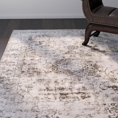 Doheny Gray/Ivory Area Rug Rug Size: 9' x 12'