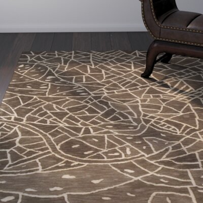 Malila Hand-Tufted Brown Area Rug