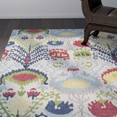Kasa Hand-Tufted Multi Area Rug Rug Size: Rectangle 36 x 56